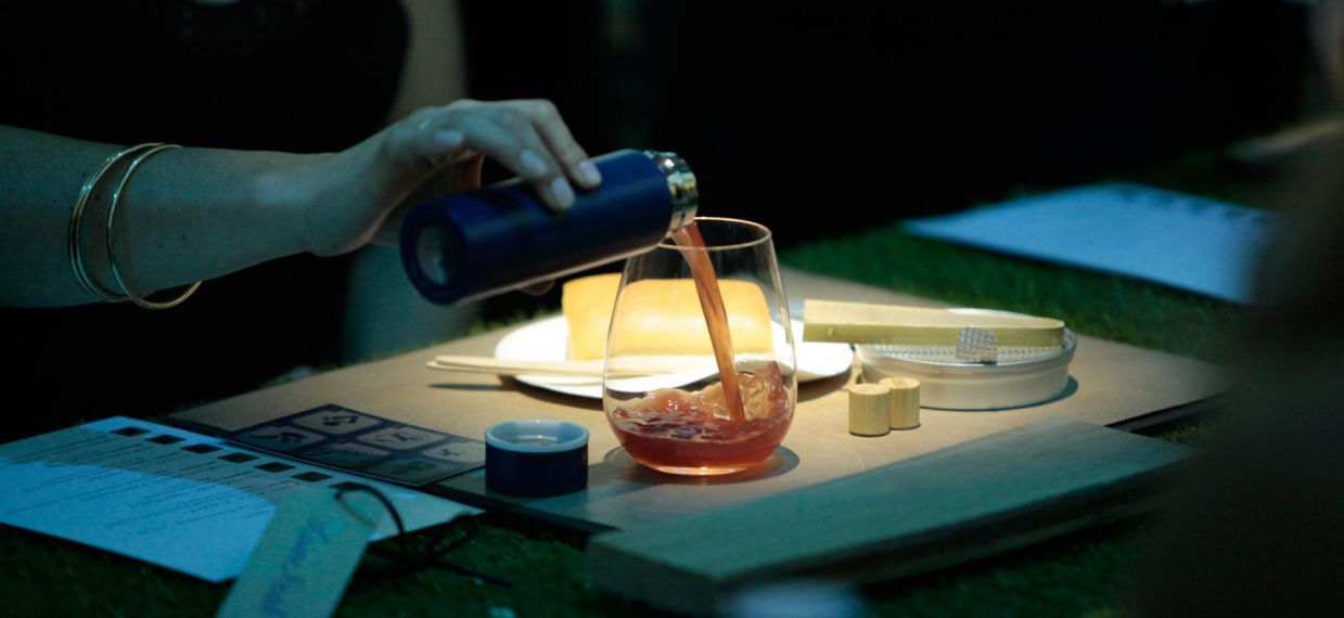 """1715 - A picnic, Jersey by Paul Pairet at Versailles for Martell300 anniversary - DIY Lobster Roll paired with Martell Tricentenaire Cocktail """"The Independent"""", Martell VSOP"""