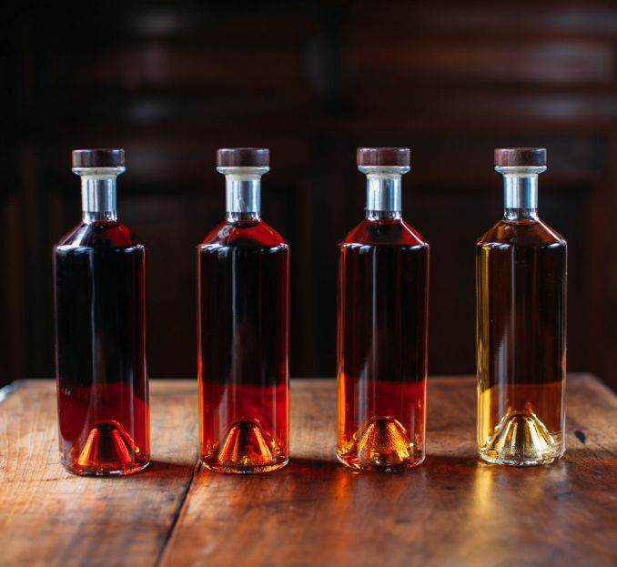 cognac collection bottles