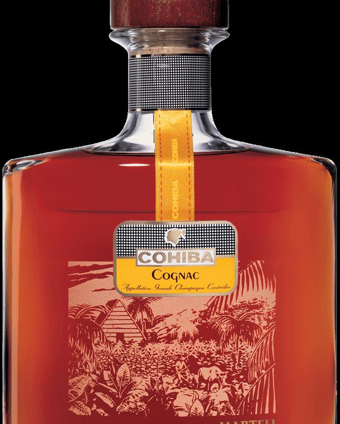 Martell cognac cohiba bottle