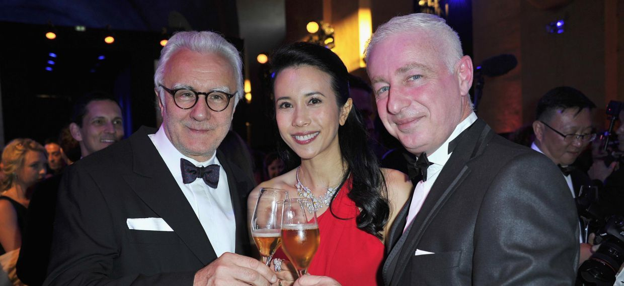 Alain Ducasse, Karen Mok and Thierry Hernandez at the Palace of Versailles for Martell300 anniversary