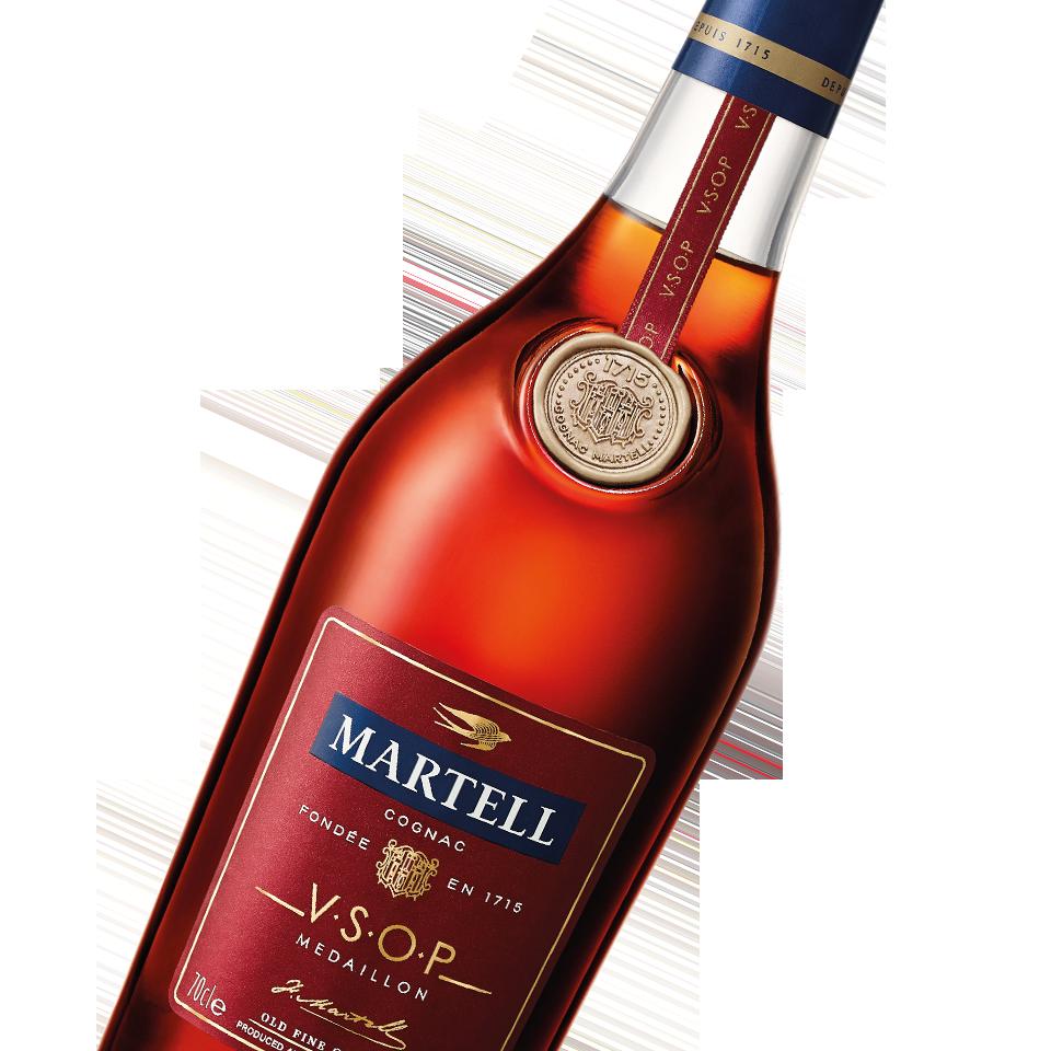 martell cognac vsop bottle