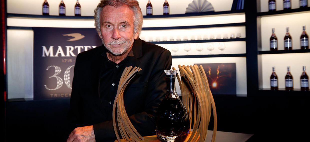 The contemporary artist Bernar Venet, designer of the limited edition Martell Premier Voyage, at Vthe Palace of Versailles for Martell300 anniversary