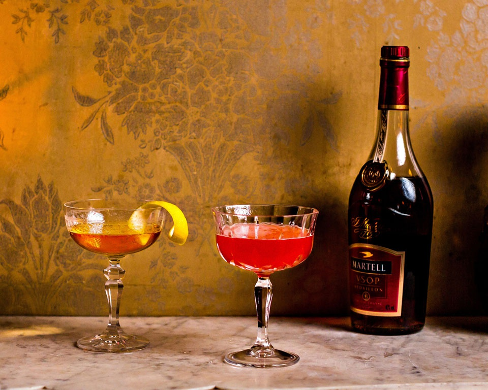 Cocktail Framboise Martell Cognac Champagne
