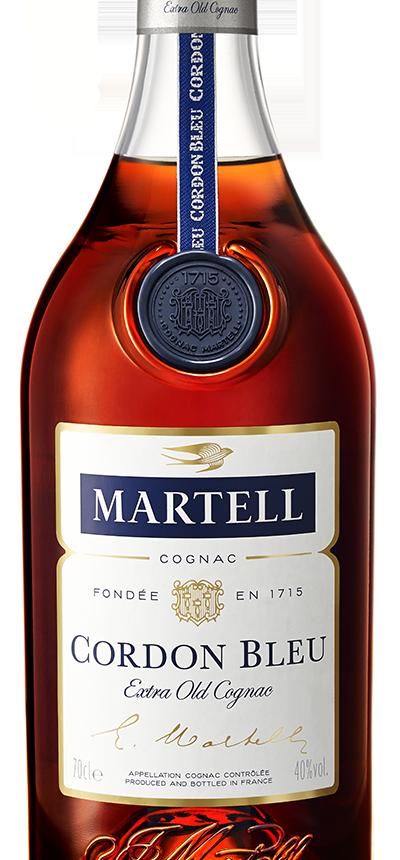 martell cognac cordon bleu bottle