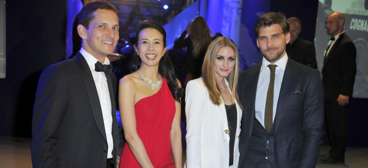 Karen Mok, Olivia Palermo and guests at the Palace of Versailles for Martell300 anniversary