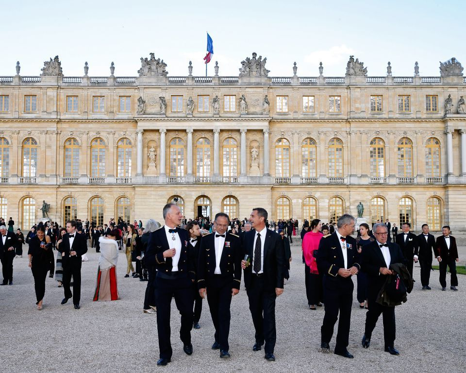 VIP guests at the Palace of Versailles for Martell300 anniversary