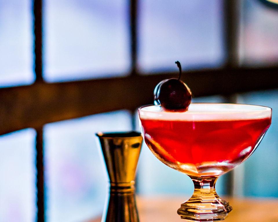 martell cognac cocktail floral cherry