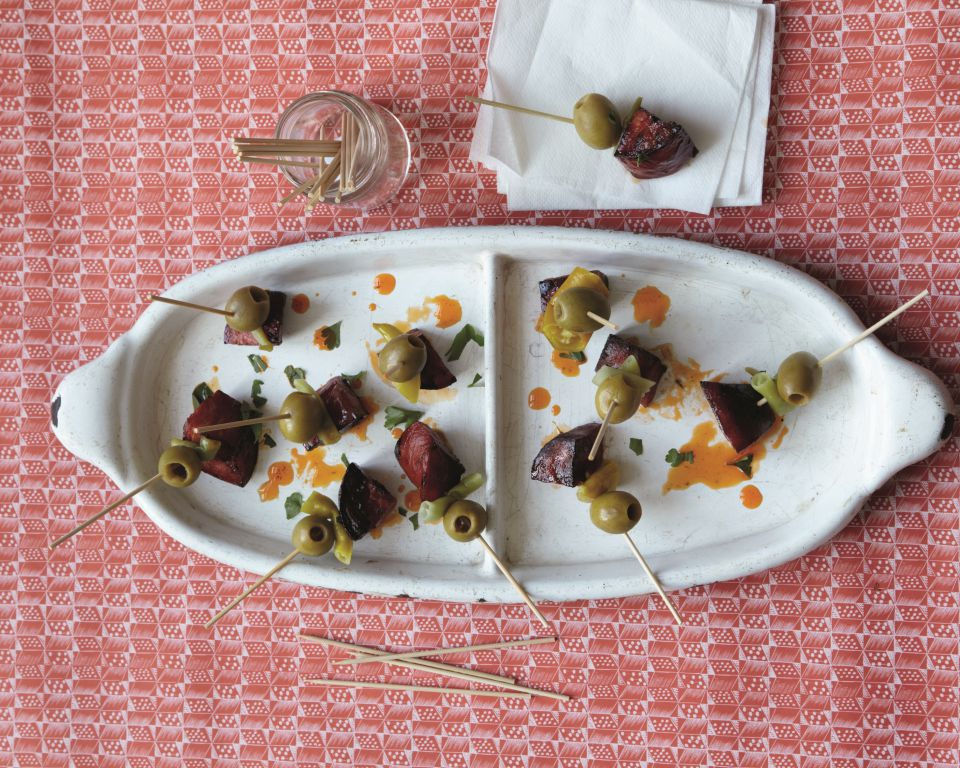 CHORIZO, OLIVES AND PICKLED CHILLI - By James Ramsden