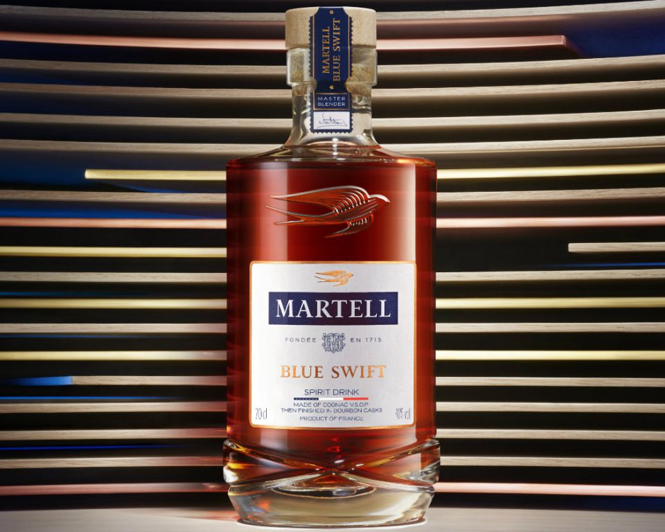 Martell Blue Swift - A spirit drink made of cognac VSOP then finished in Kentucky Bourbon casks.
