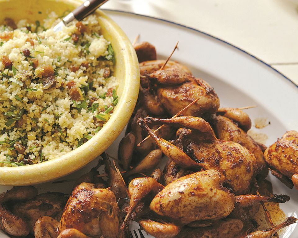 Spiced Quail with Herby Couscous and Yoghurt - By James Ramsden
