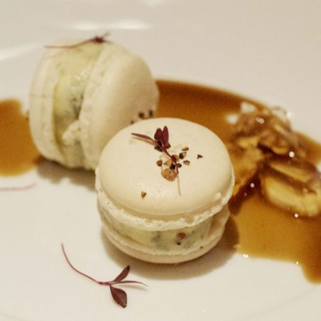 Roquefort Macaron, Pickled Walnuts and Martell Recipe