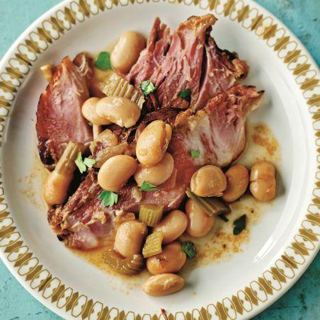 Ham hock, beans and cider  Recipe