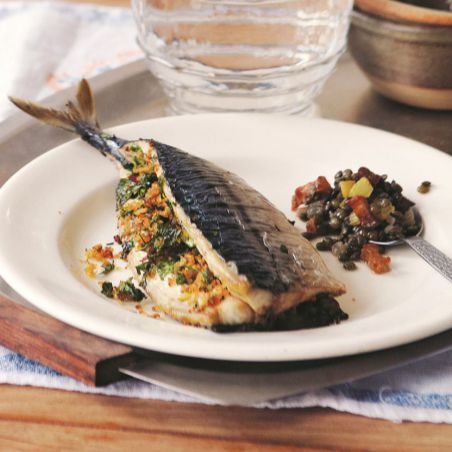 Roast stuffed Mackerel recipe