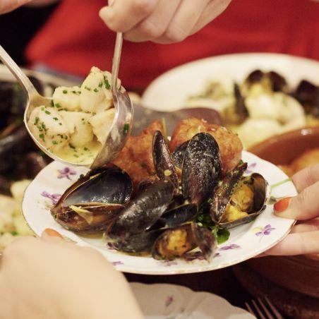 Roast Monkfish with Saffron and Mussel Ragoût   Recipe