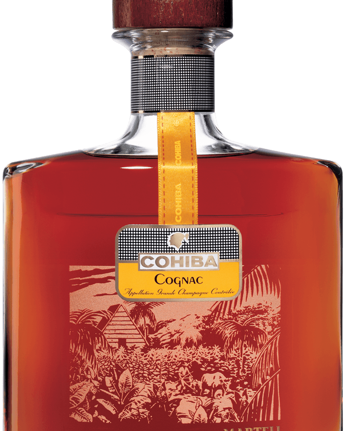 martell cohiba cognac bottle