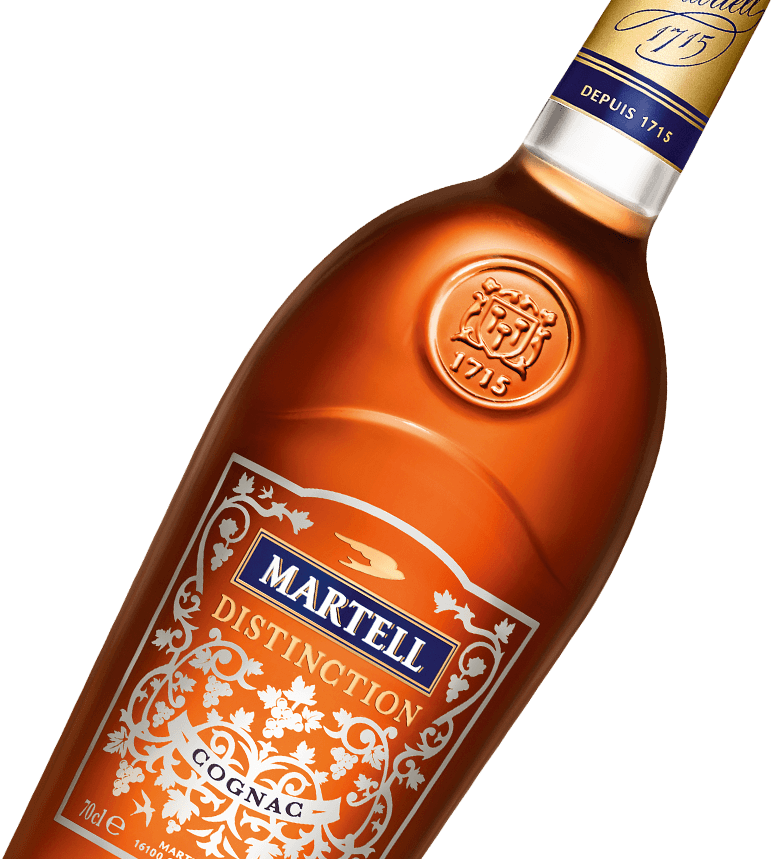 martell cognac disctinction bottle