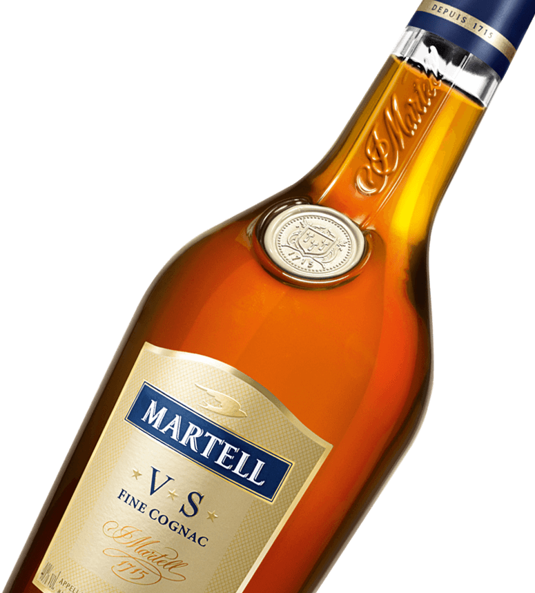 martell cognac vs fine cognac bottle