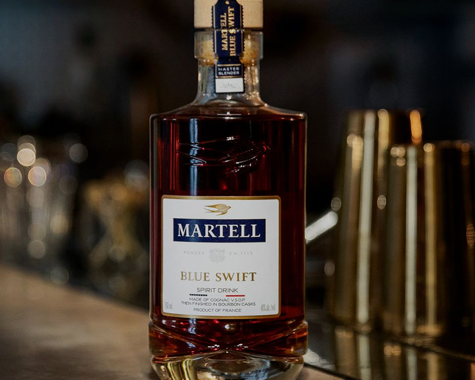 Martell Blue Swift - THE FIRST EVER SPIRIT DRINK  MADE WITH COGNAC VSOP, THEN FINISHED IN BOURBON CASK