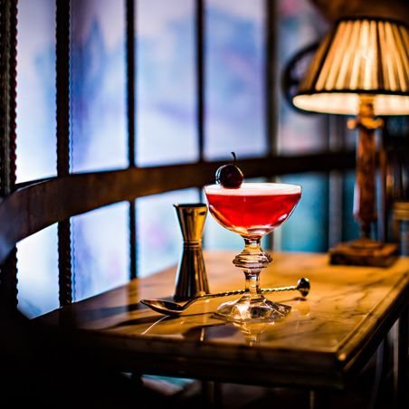 floral cherry cocktail