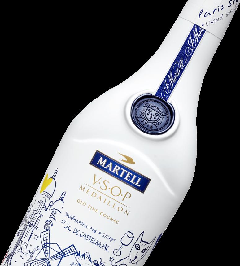 martell cognac vsop paris style bottle