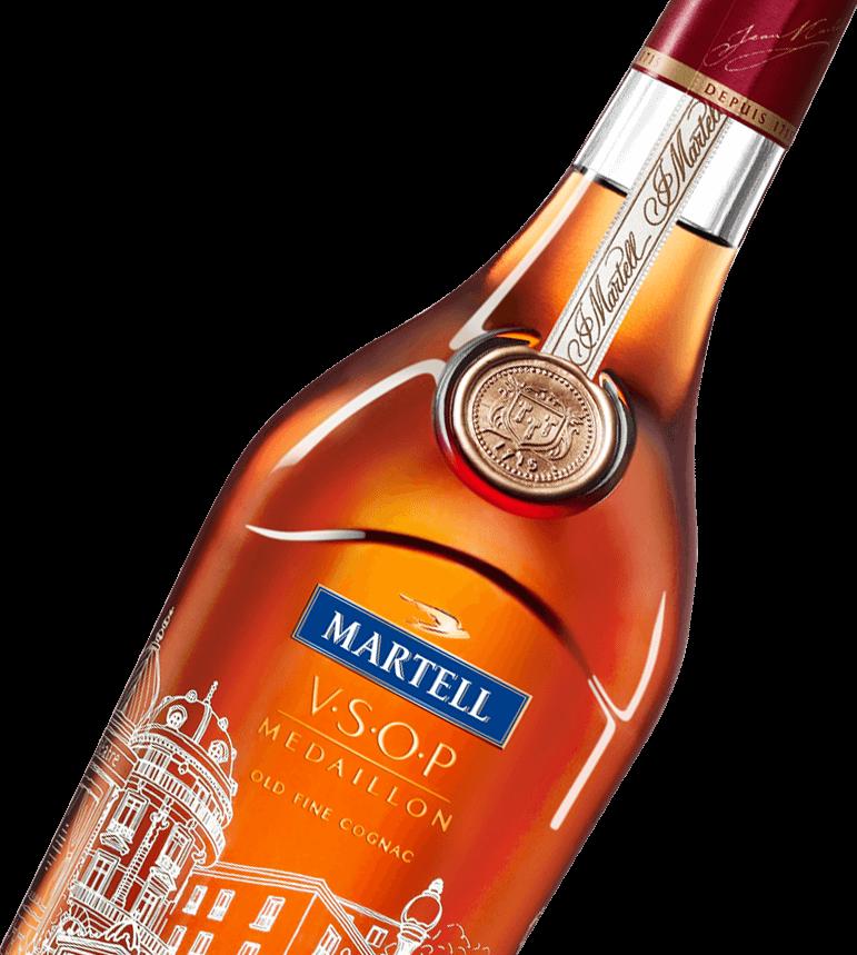 Martell cognac VSOP rive gauche bottle