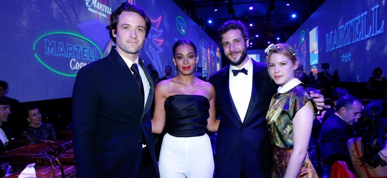 Louis-Marie de Castelbajac, Solange Knowles, Paul Charles Ricard and Hande Kodja at the Palace of Versailles for Martell300 event