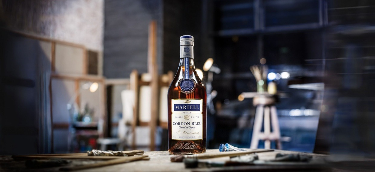 cognac martell cordon bleu beauty shot