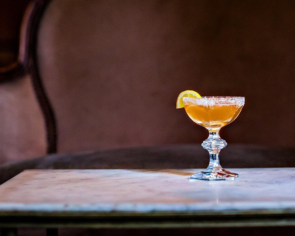 Martell cognac cocktail toasted lemon