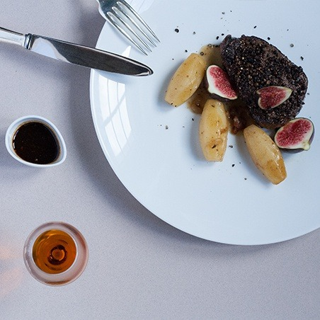 Oscietra caviar Fillet of Parthenais Beef