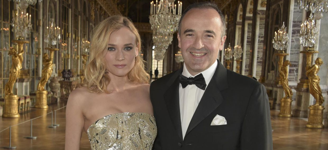 Diane Kruger and Philippe Guettat at Versailles for Martell300 anniversary