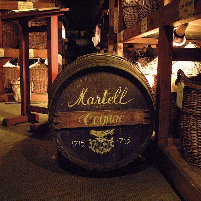 cognac cask of Martell